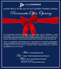 New Office Opening Invitation Card Greater Western Sydney Parramatta Office Opening Breakfast