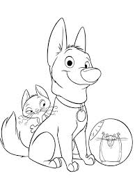 bolt dog friends coloring pages animal coloring books