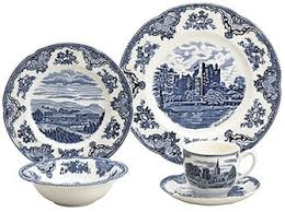 johnson brothers britain castles blue dinnerware