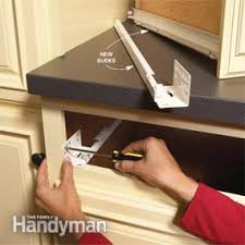 Home Repair How To Fix Kitchen Cabinets Family Handyman - Kitchen cabinet rails