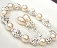 pearl bracelet set images 47 pearl bracelet and earrings bridal jewelry pearl bracelet jpg
