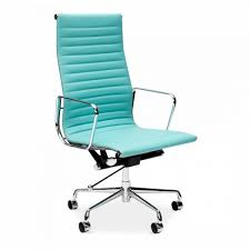 turquoise eames style ribbed office chair executive chairs cult uk