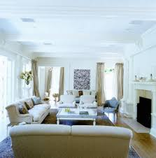All White Living Room by Living Room Divine Family Room Decoration Using Square White Wood