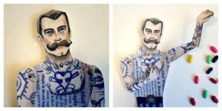circus puppets tattooed circus paper puppets by artist in la la land project