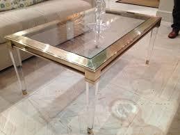 Brass Coffee Table Salma Acrylic And Brass Coffee Table Mecox Gardens