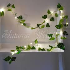 Indoor String Lights For Bedroom by Ivy Leaf Fairy Lights 2m 4m Wedding Decorations String Lights