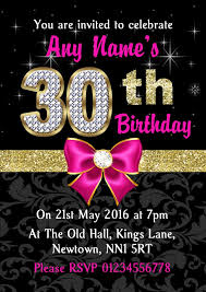 template sophisticated 30th birthday invitations templates free