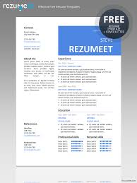 Template For Professional Resume Peckham Free Resume Cv Template Rezumeet Com