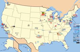 Maps De Usa by Oc Map Of The Usa With The Location Of Major Corporate