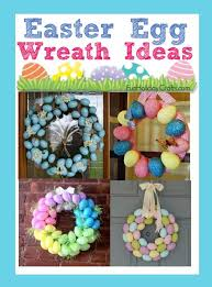 how to make an easter egg wreath plastic easter egg wreath ideas