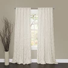 White Curtains With Pom Poms Decorating Lush Decor Lake Como Window Curtain Panel 50w X 84l