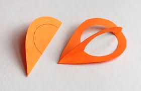 diy paper teardrop ornaments how about orange