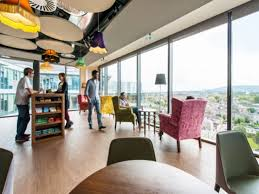 google office interior trendy surfing and beach theme u meeting