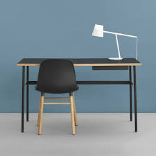 metal desk with laminate top journal normann copenhagen metal writing desk laminate top