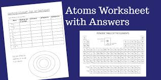 an atoms worksheet ideal for middle students