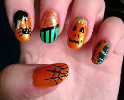 easy halloween nail design images nail art designs