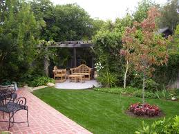 Landscape Design For Small Backyard Unique Backyard Landscape Ideas Decorated With Concrete Pathway