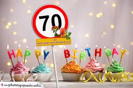 geburtstagssprüche zum 70 70 geburtstag geburtstagswünsche mit schild und alter auf karte