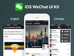ios wechat ui kit free sketch app resources pinterest ui kit