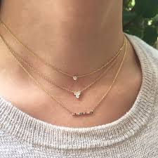 small diamond necklace images Solitaire diamond necklace zoe lev jewelry JPG