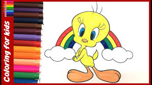 colouring pages kids color tweety bird drawing pages