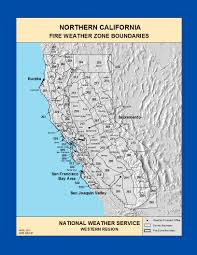 Wildfire Map Noaa by Maps Northern California Fire Weather Zone Boundaries