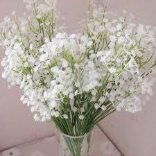 Baby Breath Flowers Aliexpress Com Buy 5pcs Atificial Baby U0027s Breath Gypsophila