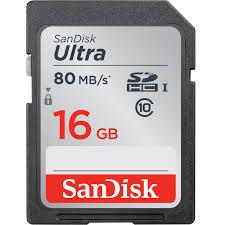s card sandisk 16gb ultra uhs i sdhc memory card sdsdunc 016g gn6in b h
