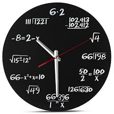 amazon com decodyne math wall clock unique wall clock each