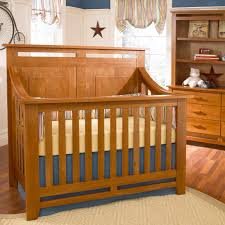 Baby Cache Lifetime Convertible Crib by Heartland Lifetime Convertible Crib In Cherry Wood Finish And A