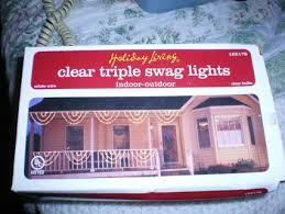 christmas swags for outdoor lights free christmas clear triple swag lights christmas listia com