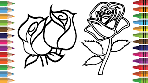 how to draw a rose easy for kids step by step coloring pages for