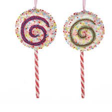 7 lollipop ornaments set of 2 northpoledecor