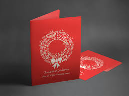 buy large christmas cards a5 personalised with your brand