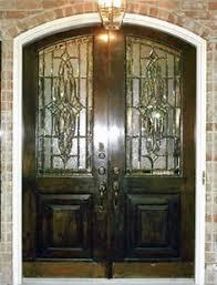 Exterior Doors Houston Tx Artglassbywells Contemporary Custom Leaded Glass Front Doors In