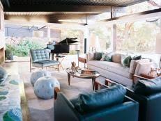 mixing mid century modern and rustic midcentury modern living room hillary thomas hgtv