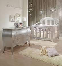 Convertible Crib Furniture Sets Natart 2 Nursery Set In Silver Crib And 3 Drawer Dresser