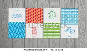 nature 4 elements logo sign water stock vector 581488201