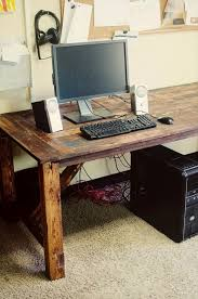 Wood Desk Ideas Alluring Wood Desk Ideas 16 Ideas For A Useful Pallet Desk From