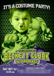 sample birthday invites turn your boy into hulk a nice sample hulk invitation