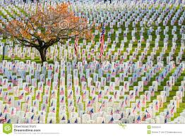 Arlington Cemetery Map Rows Of Veterans Tombstones With American Flags Editorial Photo