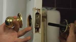 How To Remove Bedroom Door Knob Without Screws How To Install A Doorknob Youtube