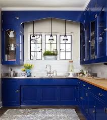 Cobalt Blue Kitchen Cabinets Butler S Pantry Wiley Designs Llc Photography By Werner Straube