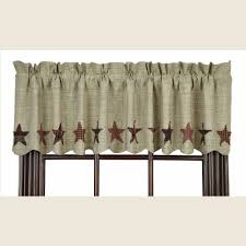 Linen Valance Country Scalloped Valance Curtains Abilene Star 72