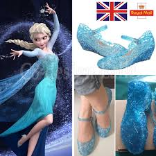 blue frozen elsa princess shoes for cosplay dress up party