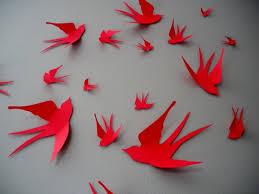 Bird Decor For Nursery Wall Decor Awesome Paper Bird Wall Decor Ceramic Birds Wall Decor