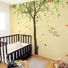 Willow Tree Home Decor Large Baby Nursery Willow Tree Vinyl Wall Decal By Theoliviadesign