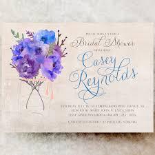 blue bridal shower invitation printable bridal shower invitation