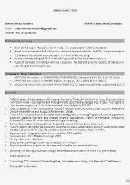 Sap Sd Experience Resumes Sap Fico Resume Sle Pdf 28 Images Sle Resume Sap Consultant