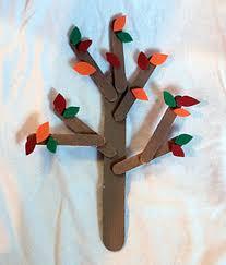 craft stick fall trees kinderart